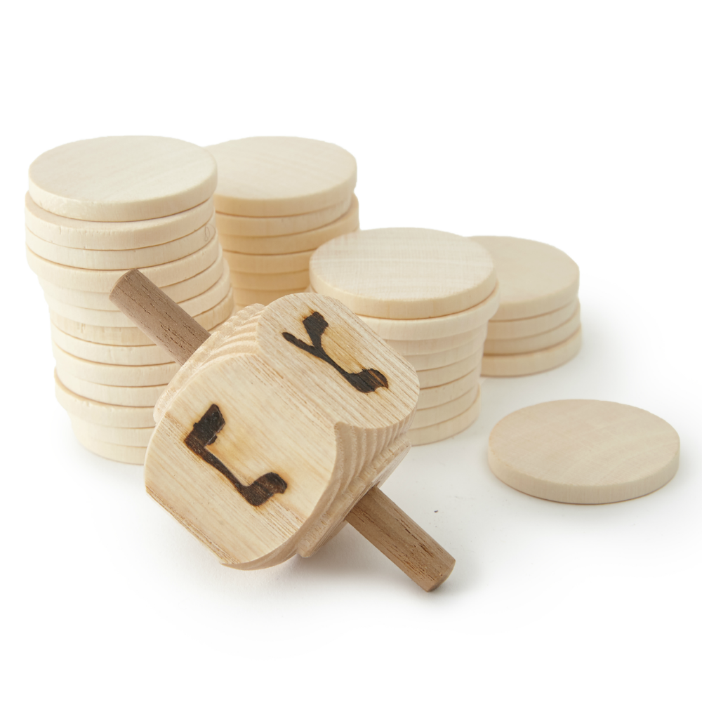 Wooden Dreidel Game Set