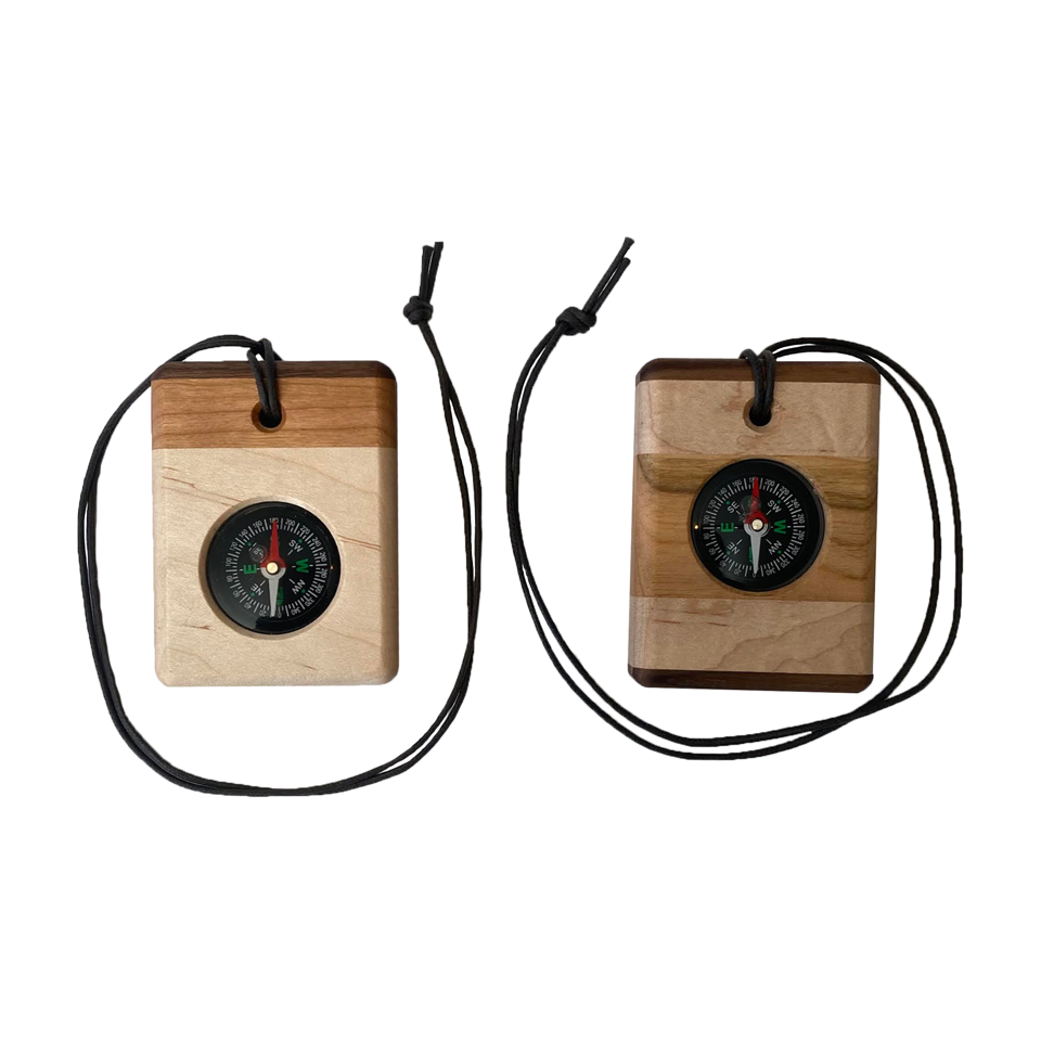 Wooden Compass Necklace