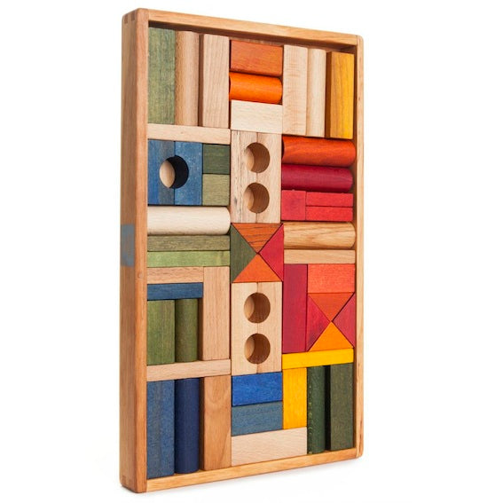 Wooden Story 54 Piece Block Set