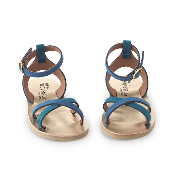 Pepe for Wovenplay Summer Blue Sandals  - EURO Size 26 / US Size 9.5