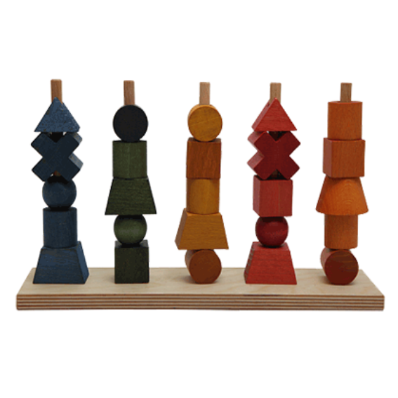 Wooden Story Shape Stacker