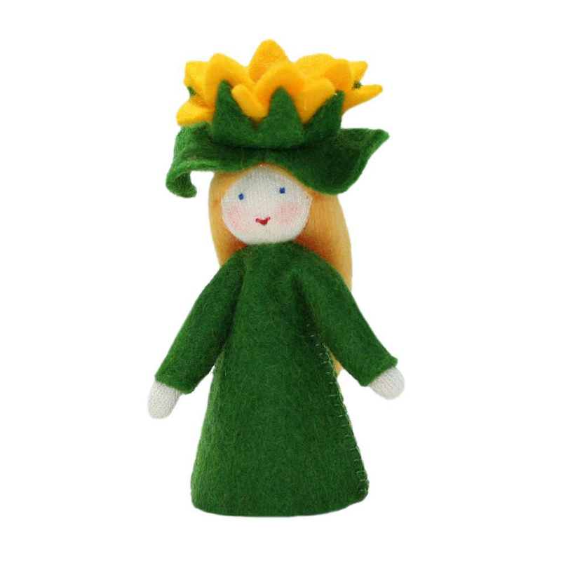 White Sunflower Fairy with Hat