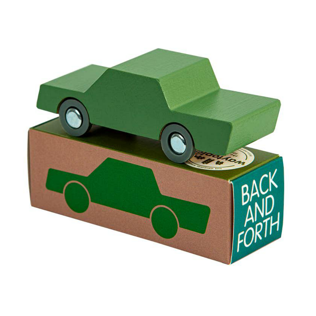 Waytoplay Green Wood Back and Forth Car