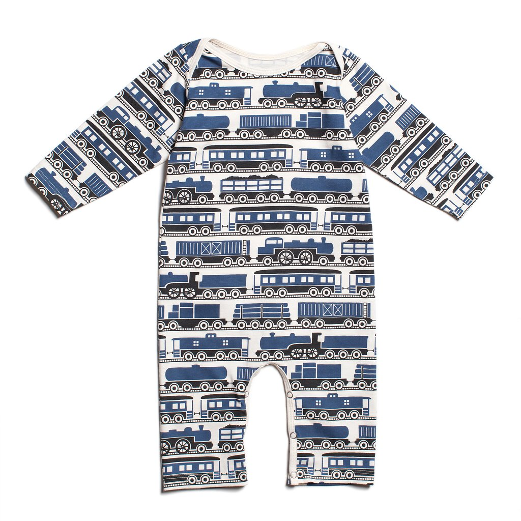 Winter Water Factory Navy Long Sleeve Train Romper