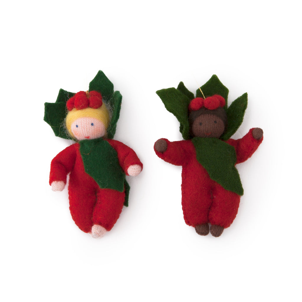 Holly Berry Ornament Set