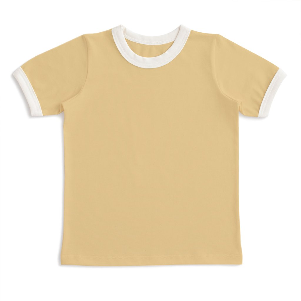 Winter Water Factory Yellow Ringer Tee