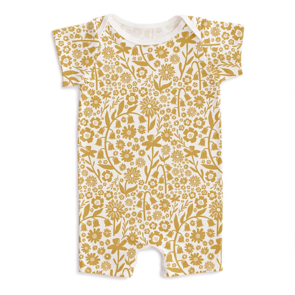 Winter Water Factory Yellow Floral Onesie