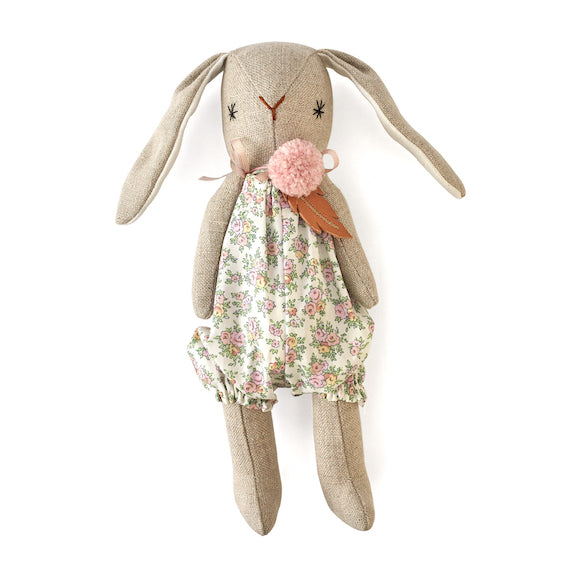 Yume Pink Floral Romper Bunny
