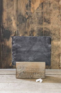 Chalkboard with wood holder