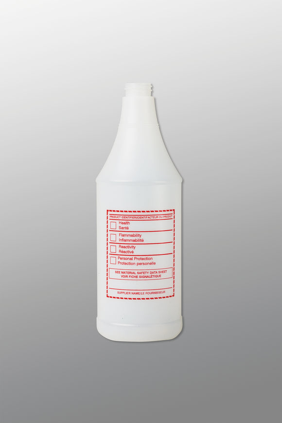 WHMIS Trigger Sprayer Bottle; 32oz
