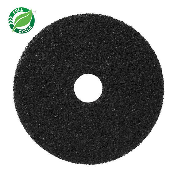 Black Stripping Floor Pad; 16