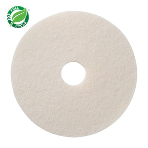 "White Polishing Floor Pad; 20""."