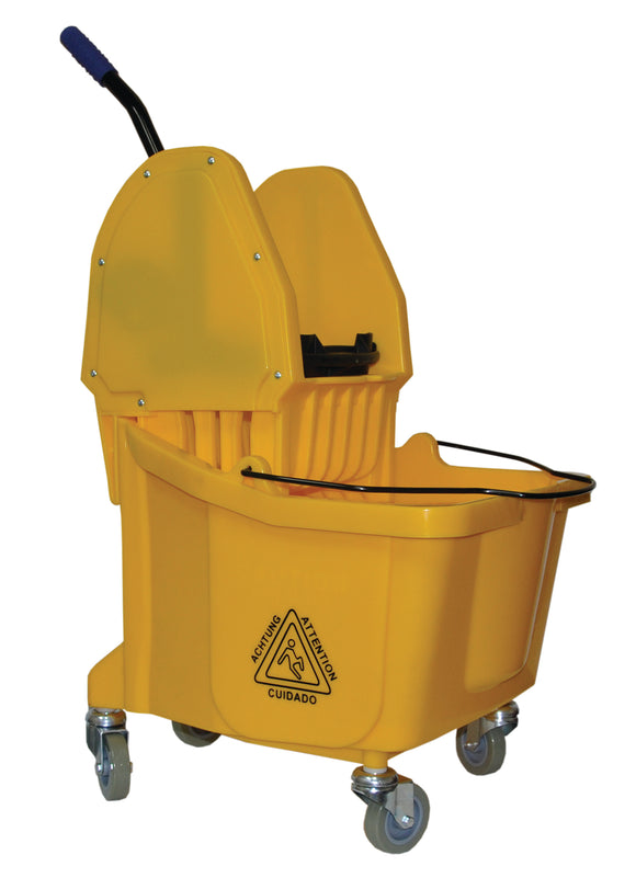 PERFORME 36L Bucket and Wringer Combo with Downward Press; Yellow.