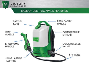 Victory Cordless Backpack Sprayer - Electrostatic