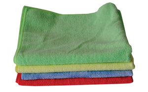 "PERFORME Green 14"" Microfiber Cloth; Pack of 10"