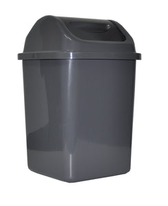PERFORME 100L Trash Can with Swinging Cover; Dark Grey.