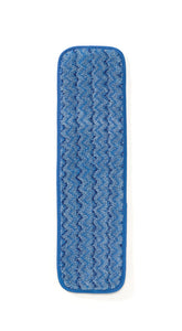 "Rubbermaid HYGEN™18"" (45.7 cm) Microfiber Damp Mop; Blue"