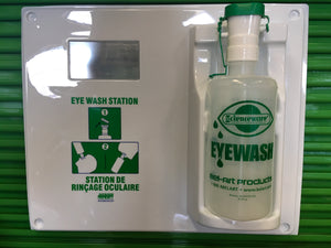 Eye Wash Panel with Empty Bottle 32oz