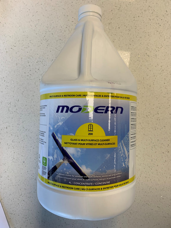 Modern Glass & Multi-Surface Cleaner; 4L