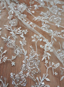 Beads Sequins Embroidery Lace
