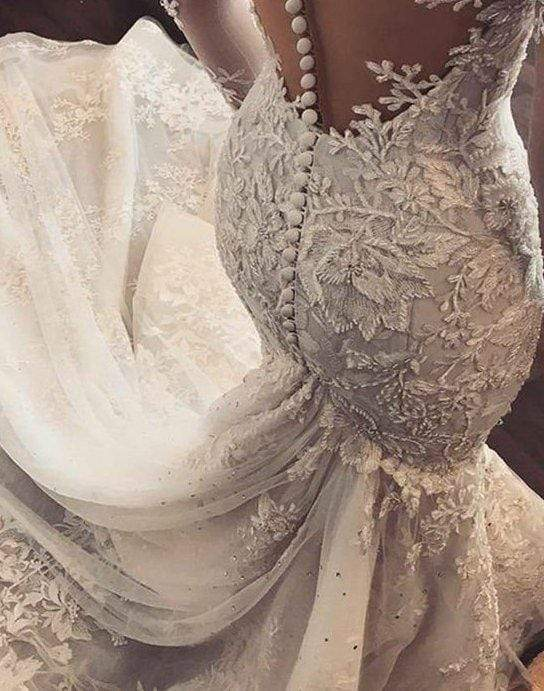 GAYCHUNLACE 3D Lace Beads Sequins Embroidery Lace wedding dress fabric by yard