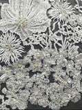 GAYCHUNLACE Embroidery Lace Beads Sequins Embroidery Lace wedding dress fabric by yard