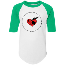 Load image into Gallery viewer, S.I.N Take Chances Kids Baseball Tee