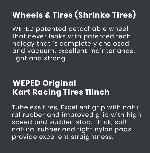 Weped SS Wheels and Tires Specs