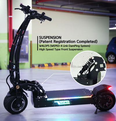 Weped Electric Scooters Model SS Suspension