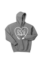 Load image into Gallery viewer, Dog Mom Hooded Sweatshirt Heart