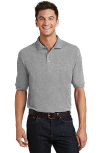 Port Authority® Heavyweight Cotton Pique Polo with Pocket