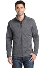 Load image into Gallery viewer, Port Authority® Men's Digi Stripe Fleece Jacket