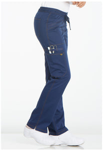 Ladies Essence Mid Rise Straight Leg Drawstring Scrub Pants