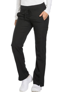 Ladies Dynamix Mid Rise Straight Leg Drawstring Scrub Pants
