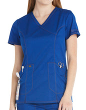 Load image into Gallery viewer, Ladies Essence Mock Wrap Scrub Top