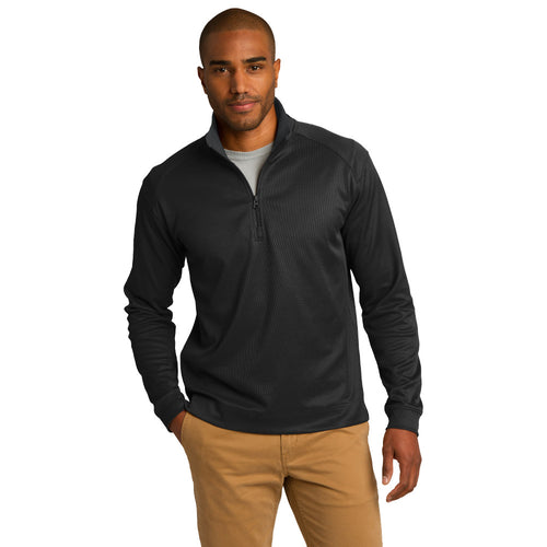 Port Authority® Vertical Texture 1/4-Zip Pullover