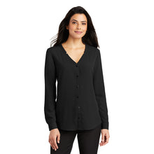 Load image into Gallery viewer, Port Authority ® Ladies Long Sleeve Button-Front Blouse