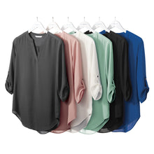 Load image into Gallery viewer, Port Authority ® Ladies 3/4-Sleeve Tunic Blouse