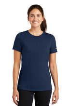 Load image into Gallery viewer, Nike Ladies Dri-FIT Cotton/Poly Scoop Neck Tee