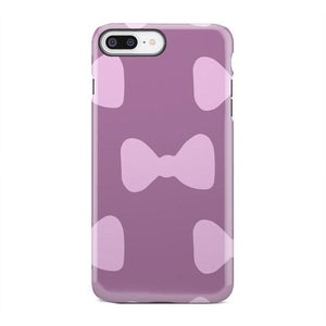 Purple and Pink Bow Tie Patterned Phone Case