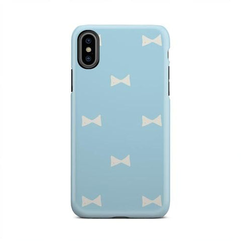 Light Blue And White Bow Ties Cellphone Case