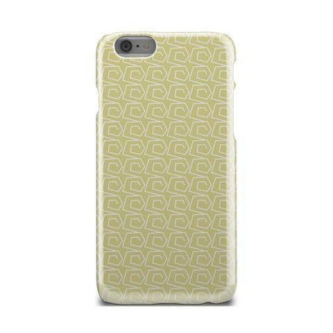 Yellow And White Wave Ocean Pattern Case