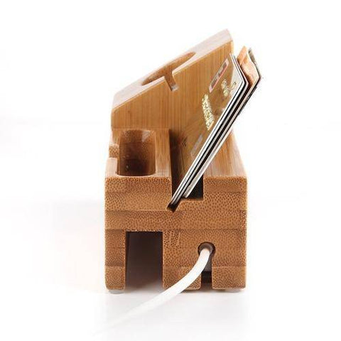 Image of Wood USB Port Charging Stand