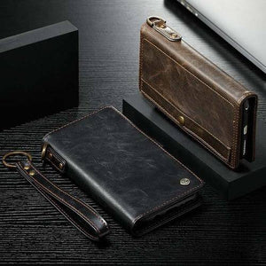 Detachable Leather Magnetic Wallet Case