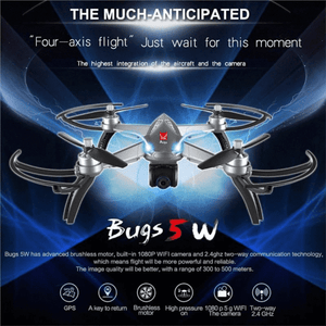 MJX Bugs 5W WiFi and GPS Capable Headless Quadcopter Drone with Camera
