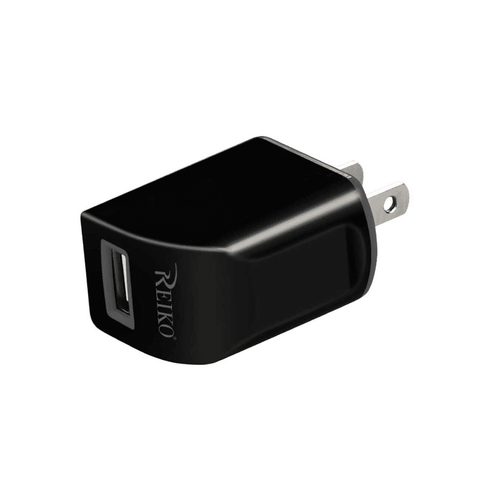 REIKO 1 AMP DUAL COLOR PORTABLE TRAVEL USB ADAPTER CHARGER IN GRAY BLACK