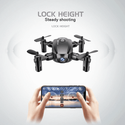 Midnight Black Quadcopter Drone with Camera