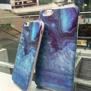 Blue Crystal Stone Case For iPhone