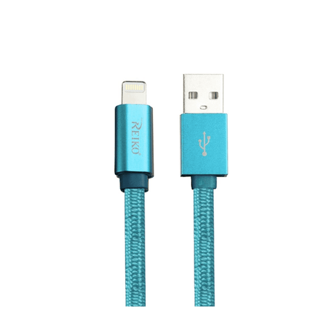 Image of REIKO IPHONE 6 3FT LIGHTING CERTIFIED BRAIDED DATA CABLE IN BLUE