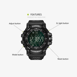 50Meters Swim Dress Sport Watches Smael Brand Army